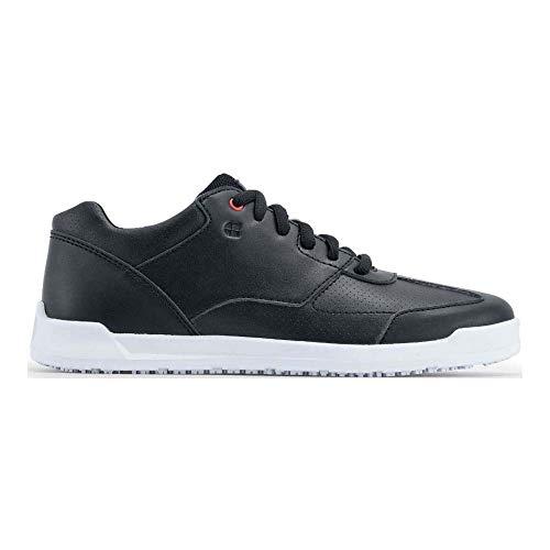 Zapatillas 38140-46/11 FREESTYLE NEGRO Y BLANCO de Shoes For Crews, para hombre, antideslizantes,número 46, Negro y Blanco