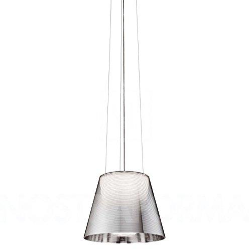 Flos Ktribe S2 - Lampadario con diffusore interno in policarbonato e diffusore esterno fumée