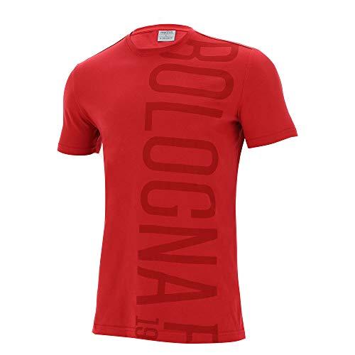 Macron Bfc Merch Ca T-Shirt Tifoso Jersey Cottonpoly Ros Sr T-Shirt Rot Bologna FC 2020/21 Herren XL rot
