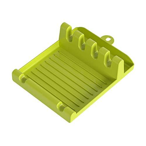 hgkl Cuchara Resto Multifunción Cocina de Silicona Utensilio Utensilio Soporte Soporte Pot Clips Soporte Soporte Estufa Organizador Pan Cubiertas Tapa Rack Storage (Color : 01)