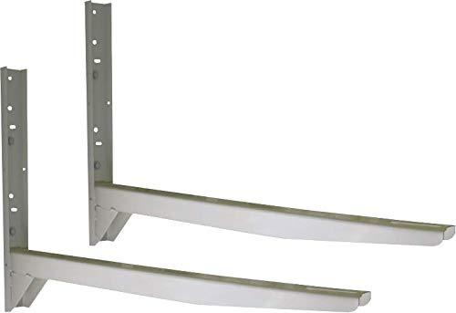 GASMOBE Soporte aire acondicionado lateral - PEQUEÑO. Palas apoyo 1100mm de longitud. Fabricado en chapa de acero de 3mm espesor. Carga máxima 100kg. Cartelas de refuerzo de 2mm espesor (850X600X60X2)