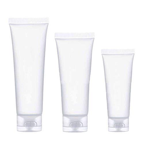 HEHXKJ Botella de envase cosmético 30 unids Viaje Vacío Tubo Cosmético 30/50 / 100ml Squeeze Facial Limpieza de contenedor Crema de Mano Loción de Botella Muestra Pot Gel Box