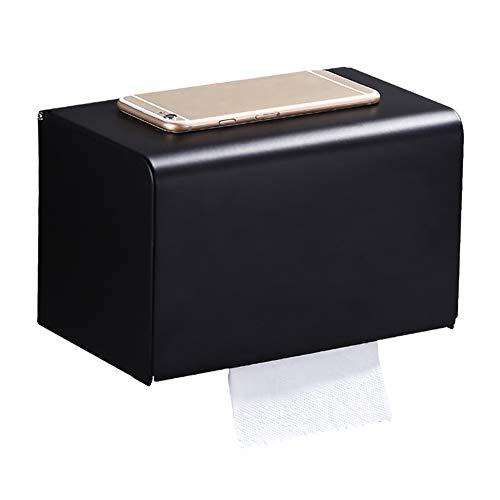 Anabei Portarrollos de papel higiénico titular de toalla de papel higiénico libre perforación titular de rollo titular de papel higiénico caja de papel higiénico creativo hogar, 20×12.6×12.6cm