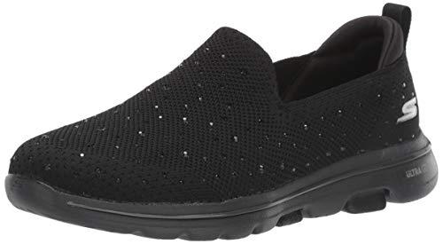 Skechers Damen Go Walk 5-Limelight Slip On Sneaker, Schwarz (Black Textile/Trim BBK), 43 EU