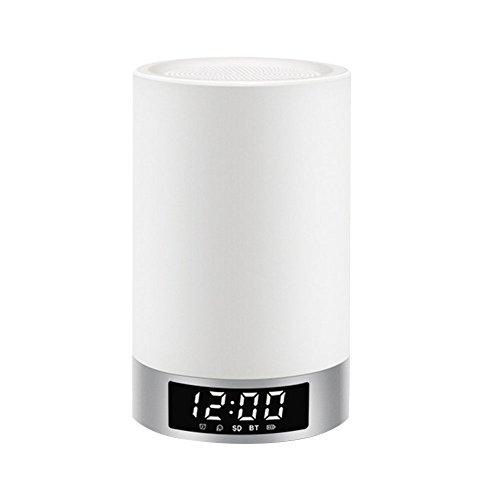 Mabor Bluetooth-Lautsprecher, Freisprecheinrichtung, Bluetooth 4.0, DC 5 V/1 A, 4000 mAh, TF-Karte, silberfarben