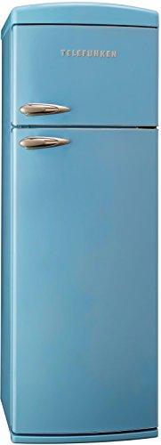 Telefunken TFK1543FB2 Kühl-Gefrier-Kombination/A++ / 175,4 cm Höhe / 206 kWh/Jahr / 242 L Kühlteil / 63 L Gefrierteil/Retro-Design/blau