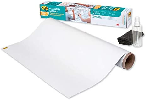 Post it Flex Write Surface Permanent Marker Wipes Away with Super Hydrophilic Technology 3 ft product image