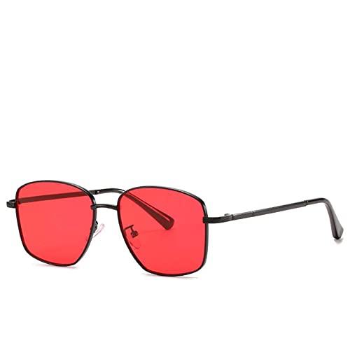 AMFG Gafas de sol de marco pequeñas Modernas retro hombres y gafas de sol. (Color : D)