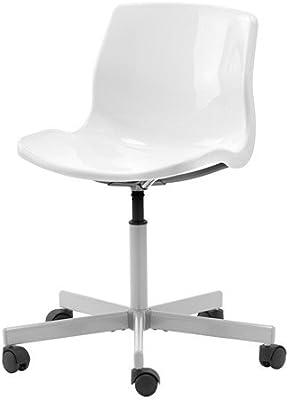 Mesa Despacho Ikea Blanca.Ikea Snille Silla Giratoria Blanco Amazon Es Hogar