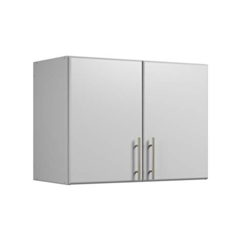 Prepac Elite 32' Stackable Wall Cabinet, Elite 32' Stackable Wall Cabinet, Light Gray
