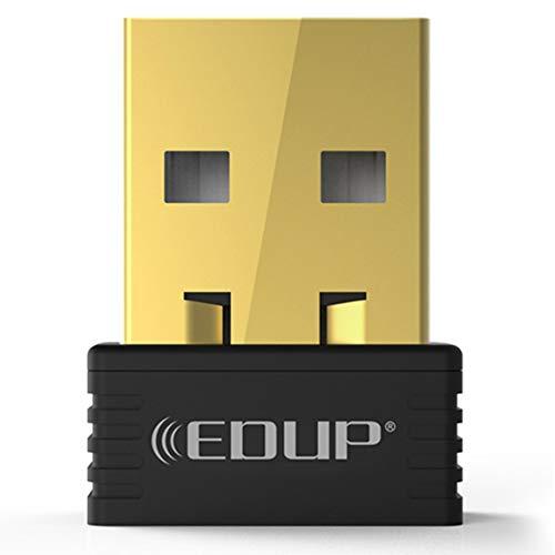 Kongqiabona-UK EDUP 150Mbps Mini USB WiFi Dongle Receptor Inalámbrico 802.11 n/g/b Adaptador Ethernet Tarjeta de Red para Windows para Mac PC