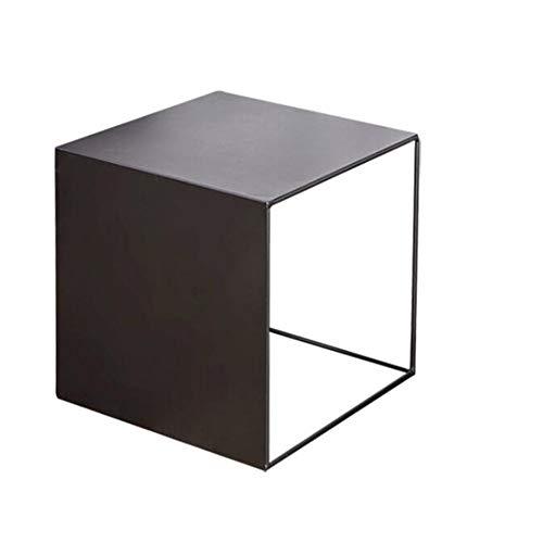 Jcnfa-bijzettafel Vierkante metalen eindtafel, Bijzettafel, Industriële nachtkastje, Sofa Side End Tafel, 2 maten