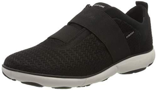 Geox Damen D Nebula B Slip On Sneaker, Schwarz (Black C9997), 39 EU