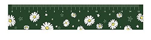 xinying Regla de 15 cm de estilo fresco de margaritas de acrílico recta regla coreana medida reglas para estudiantes Scrapbooking suministros de bricolaje (color 40)