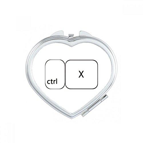 DIYthinker Tastatur Symbol Ctrl Z Herz Compact Make-up Taschenspiegel Tragbare Nette kleine Hand Spiegel Geschenk Mehrfarbig