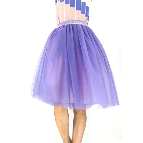 BOLAWOO-77 Falda Plisada Retro para Mujer De Petticoat De Los Mode De...