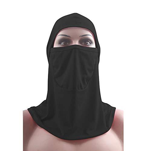 Oce180anYLV Frauen Ramadan arabisches Gebet Muslim Hijab Niqab Schleier islamische Gesichtsmaske Schal Bandanas Hut Sturmhaube Schwarz
