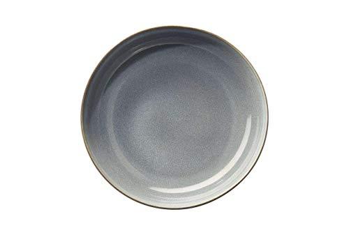 ASA 27141118 Assiette à dessert Denim SAISONS D. 21 cm Lot de 6 pailles en acier inoxydable EKM Living