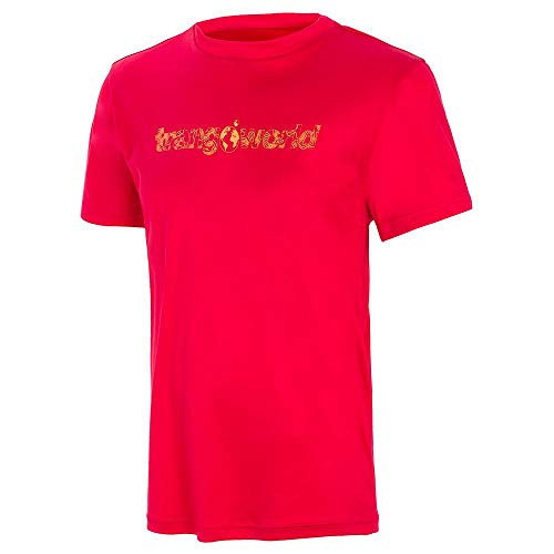 Trango Camiseta SALENQUES VT Tricot Mixte Enfant, Rouge foncé, 12 Ans