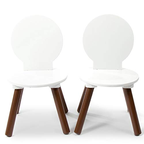 Milliard Kids Chair, Mid-Century Modern Wooden Chair Set for Kids- 2 Pack