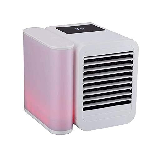 KOSIEJINN Mini Enfriador de Aire, Aire Acondicionado, humidificador y purificador 4 en 1 y Luces LED de 7 Colores con Pantalla táctil LCD para la Oficina...