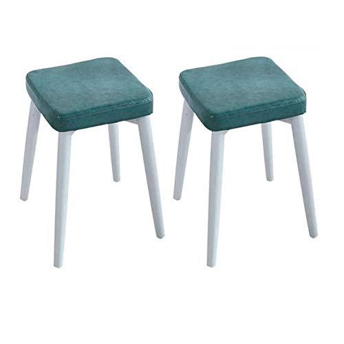 WJJ Silla de Sala Heces Pack de 2, Piernas apilable Comedor heces Plaza Robusta de Metal cómodo Acolchado de Cuero de imitación, 46x33x33cm Muebles Ligeros Sillón Relax (Color : D, Size : #3)