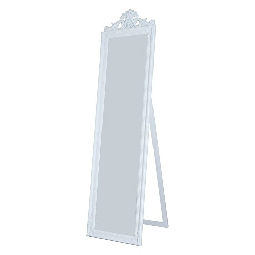 Milton Greens Stars Gisela Wooden Standing Mirror with Decorative Design, White