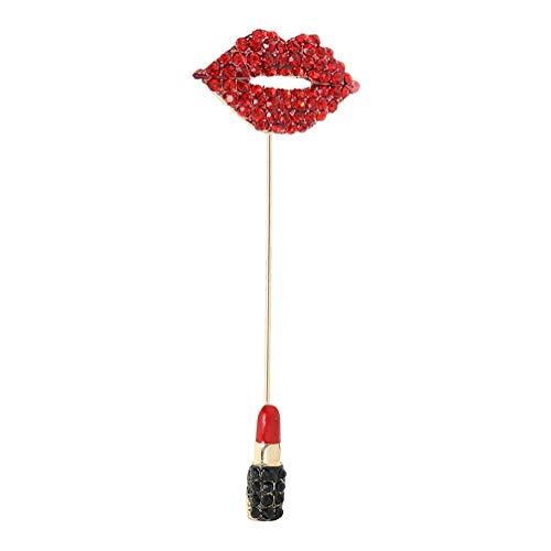 TENDYCOCO Lippen Design Brustnadel Einzigartige Lustige Lippenstift Design Brosche Pin Kostüm Requisiten Dekoration Kleines Geschenk für Damen Weibliche Mädchen