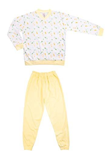 Clinotest Kinder-Schlafanzug aus Jersey, Schlupfoberteil mit V-Ausschnitt und Langer...