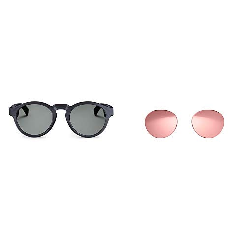 Bose Frames - Audio Sunglasses with Open Ear Headphones, Black, with Bluetooth Connectivity with a Rose Gold Replacement Lens