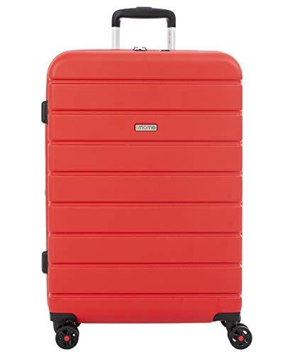 imome Top Maleta Mediana Roja Cierre TSA 67x47x27/30 cm Expandible   Trolley de Viaje con Carga USB   Maleta de Viaje Rígida 100% ABS Reforzado, Antiarañazos