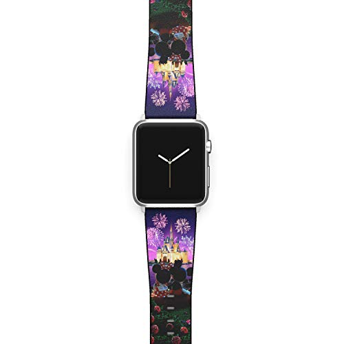 Watch Band Compatible with Apple iWatch All Series 38mm 40mm 42mm 44mm Cartoon Design Strap (disworld2) (38/40mm)
