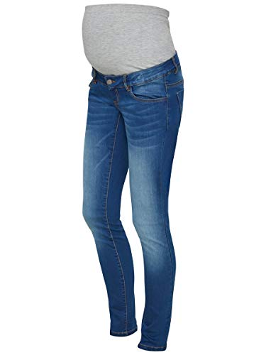 MAMALICIOUS Mama Licious Damen Umstandsjeans Slim Fit 3034Medium Blue Denim
