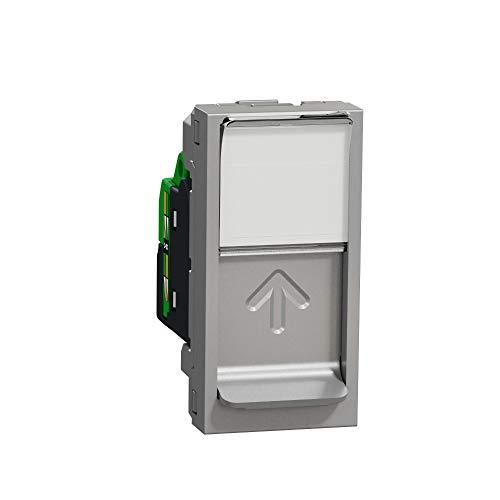 Toma RJ45, categoría 6 UTP, 1 módulo, de aluminio (Schneider Electric NU341430)