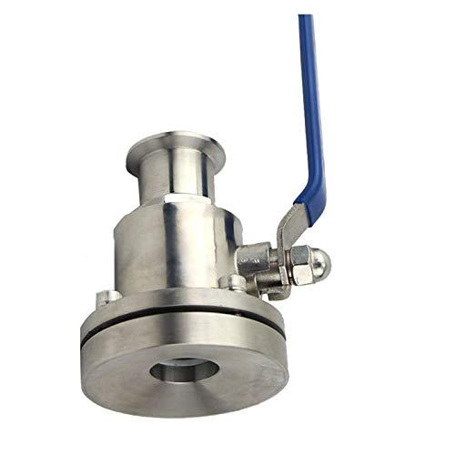 LXH-SH Das elektromagnetische Ventil Tankbodenventil Pumpe Sanitärtankbodenkugelhahn Bodenablassventil SS304 / SS316L Schnell installieren 19mm-102mm Industriebedarf