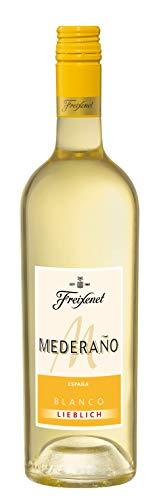 Mederaño Blanco lieblich Wein (0,75l) l Cuvée l lieblich l blumige Noten nach Orangenblüten l spritzig frischer Weißwein