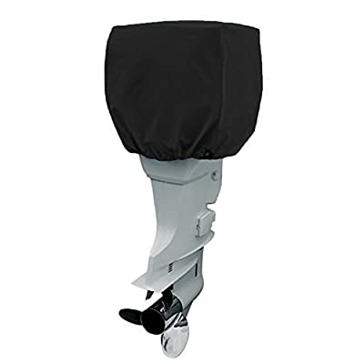 COCO Yacht Boat Engine Outboard Motor Cover Up to 25-50/ 50-115/ 115-225 Horsepower-Trailerable Heavy Duty Water, Mildew, and UV Resistant with Thick Polyester Fabric