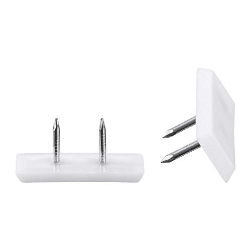 Muebles patas de uñas de plástico Glide para uñas, cuadrado, silla, mesa, patas protectoras, 31 x 12 mm, color blanco, 20 unidades