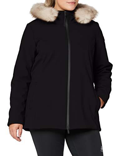 CMP Damen Parka Softshell Imbottito Con Cappuccio Eco Fur Jacke, Schwarz, 44 (XL)
