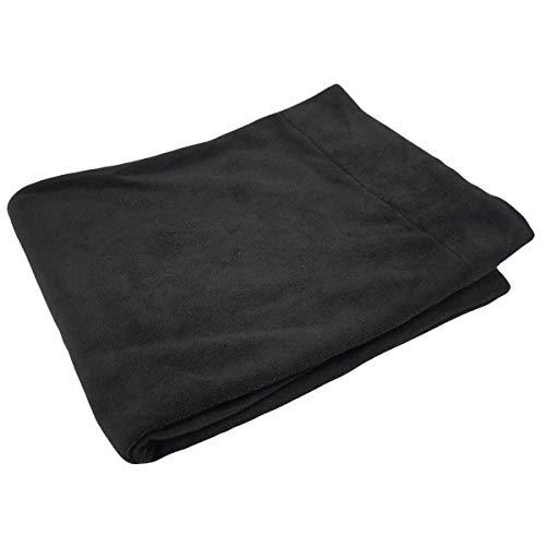 オールシーズンケット シングルサイズ140×200cm 吸水速乾 マイクロファイバー さらっとしたシャーリング仕上げ (ブラック)