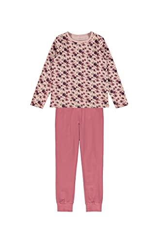 NAME IT Mädchen NKFNIGHTSET LS Deco Rose Flower NOOS Pyjamaset, 134-140