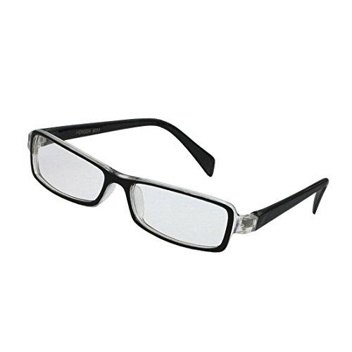 TOOGOO(R) Plastique Enfants Pleine Jante Lentilles Rectangle plain lunettes Plano Lunettes Black Clear