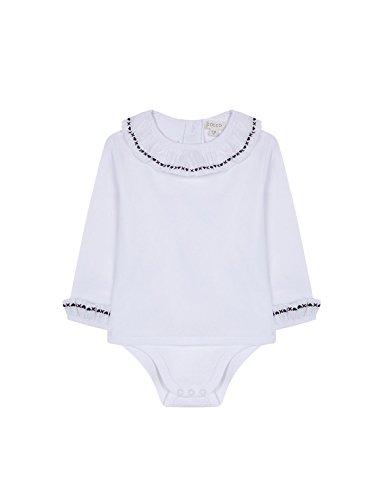 Gocco Camisa Body Bordada Blusa, Blanco (Blanco WA), 12-19 Meses para Bebés