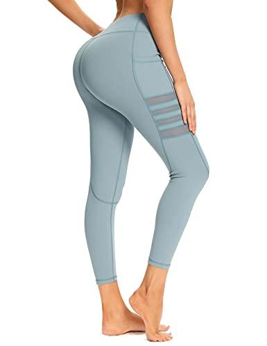 EVELIFE Legging Fitness Donna Vita Alta Yoga Pantaloni Larghi con Tasche Palestra Sportivi Elasticizzati da Corsa Pantaloni della Tuta (Blu S)