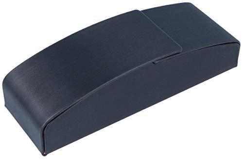 edles Einsteck-Brillenetui mit Silkybezug und Magnetverschluss in schwarz
