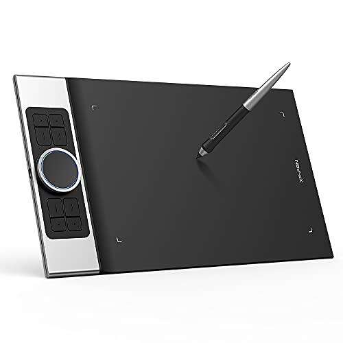 XP-PEN Deco Pro MW Tableta Gráfica Inalámbrica con Bluetooth, Tableta Digitalizadora de Dibujo Compatible con iPhone, Android, Windows y Mac para Pintar y editar Fotos y Educación en Línea, Negro