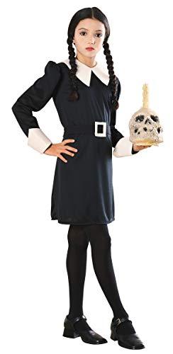 Déguisement du mercredi des enfants de la famille Addams Rubis, grand, de 8 à 10 ans, hauteur de 142 à 152 cm