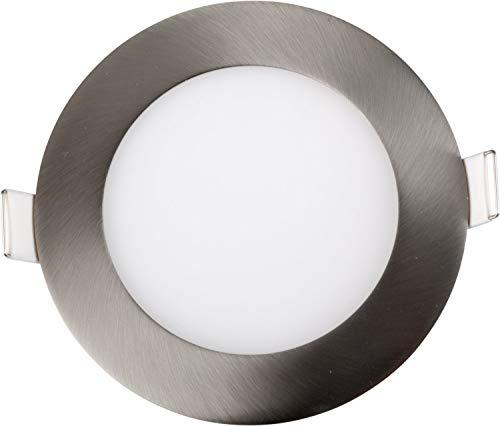 Heitronic Deckenleuchte LED PANEL 9W RUND SATIN NICKEL EINSTELLBAR Edelstahl | 28124