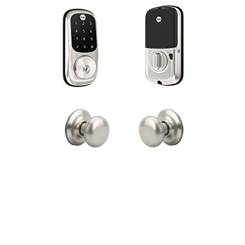 Yale Assure Lock Touchscreen, Wi-FI Smart Lock with Cambridge Knob - Works with the Yale Access App, Amazon Alexa, Google Assistant, HomeKit, Phillips Hue and Samsung SmartThings, Satin Nickel