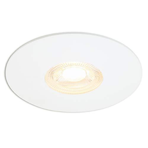 ARK LICHT | Foco Empotrable LED | CRI 95+ | 6.6W | 600lm | 2700K Blanco Cálido | Atenuación | 2 años/20.000 horas garantía | 230V | Blanco | Aluminio | Sin parpadeos | 45° Ángulo del haz